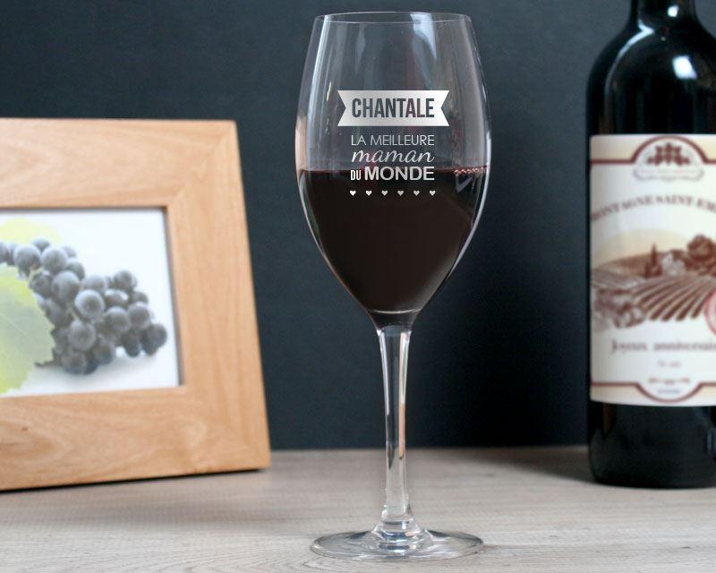 Verre à vin à personnaliser Cadeaux.com