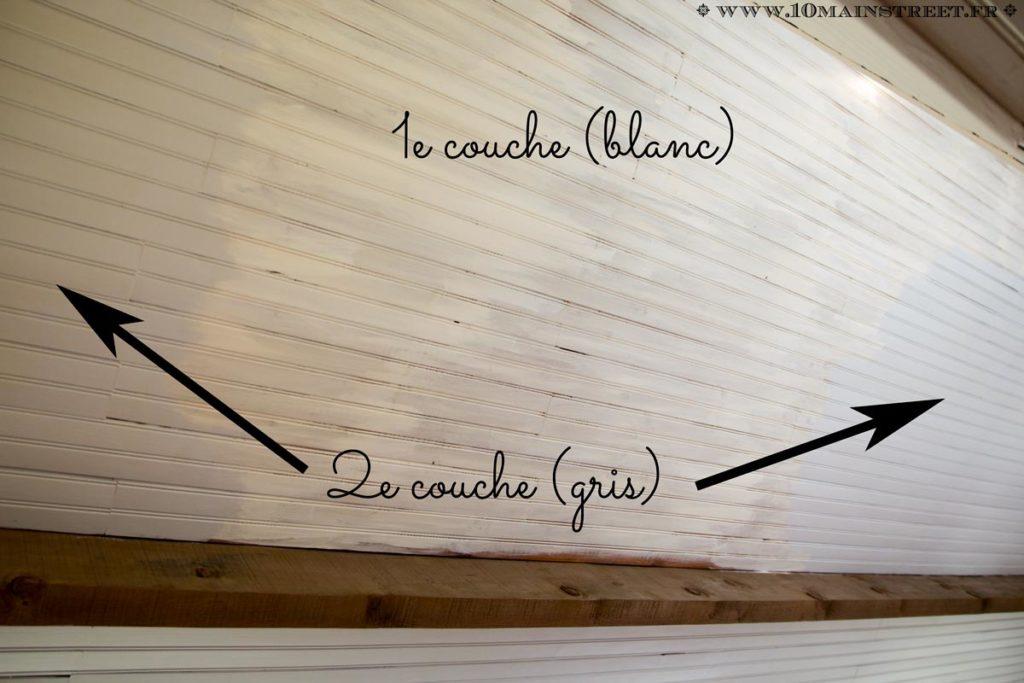 Peinture du plafond en lambris