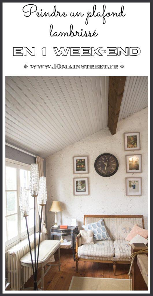 Peindre un plafond en lambris en un week-end | wood-panelling, wainscoting, plafond lambrissé