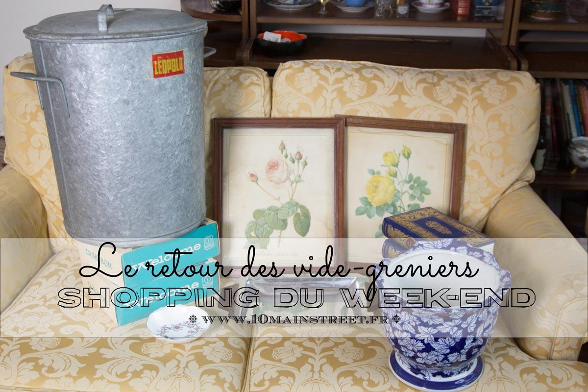 Shopping du week-end : le retour des vide-greniers