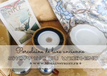 Shopping du week-end : porcelaine de luxe et Cie