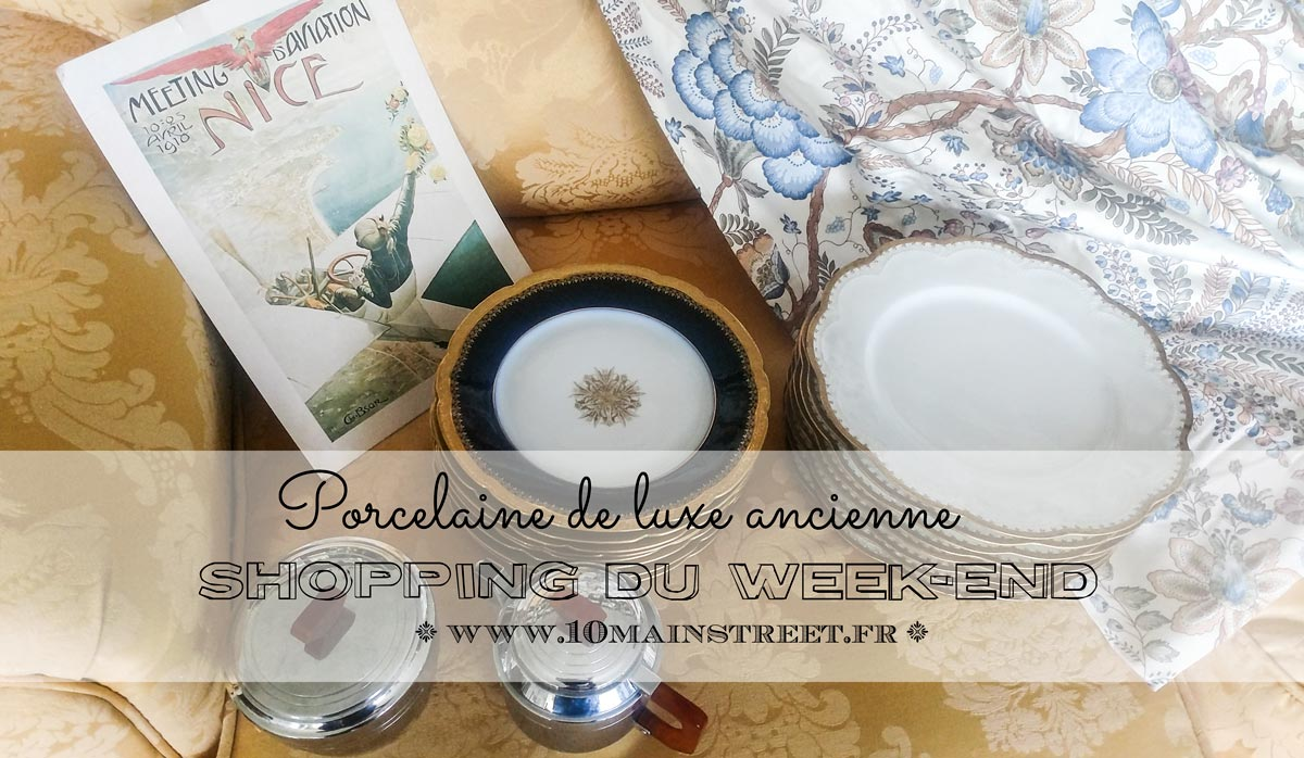 Shopping du week-end : porcelaine de luxe et Cie