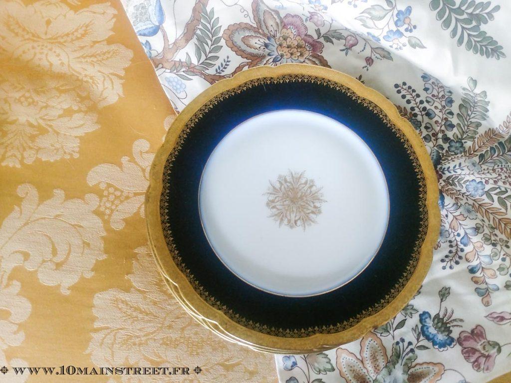 Assiettes Jean Pouyet, porcelaine de Limoges