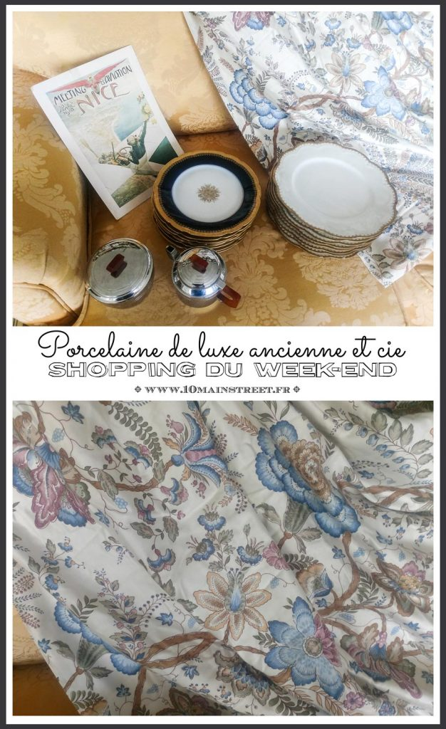 Shopping du week-end : porcelaine de luxe ancienne et compagnie #haviland #JeanPouyet #retourdechine