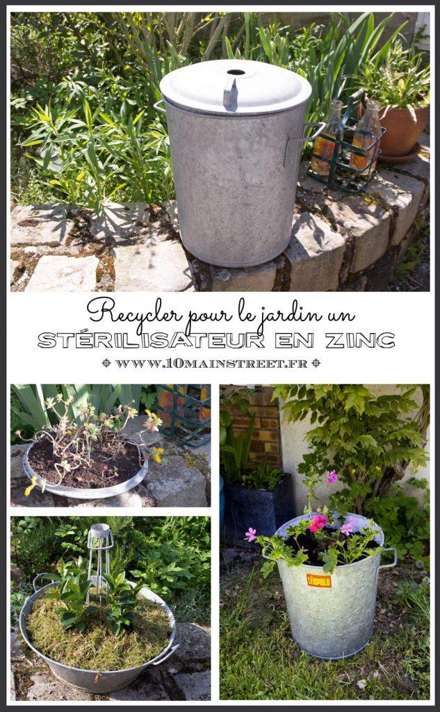 Recycler un stérilisateur en zinc pour le jardin #upcycling #jardinage #planter