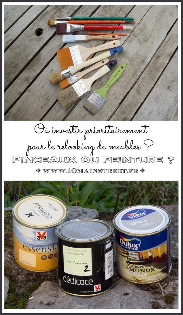 Pinceaux ou peinture, où investir prioritairement pour le relooking de meubles ?