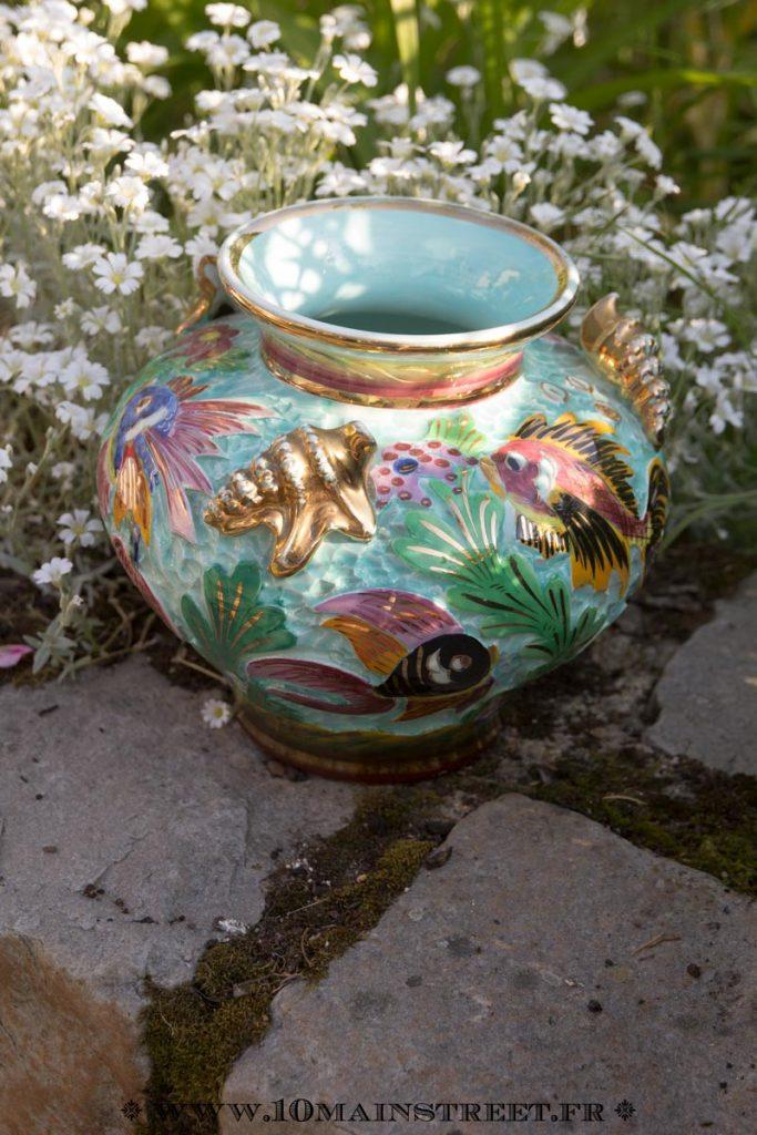 Vase des années 1950 en céramique de Moncao Cerdazur