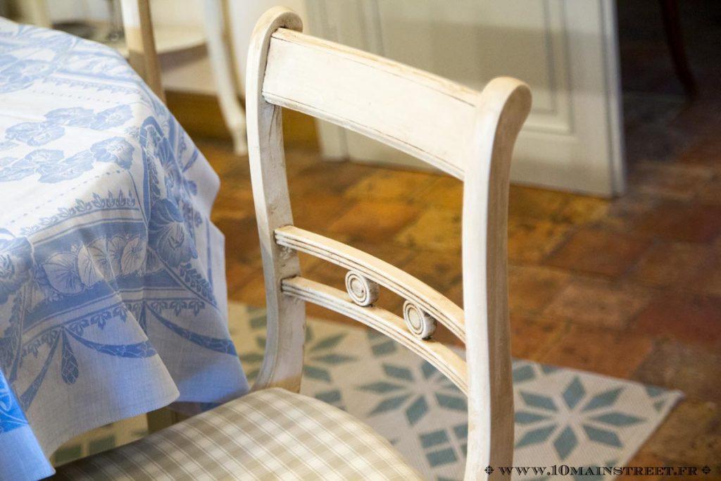 Dossier de chaise relookée