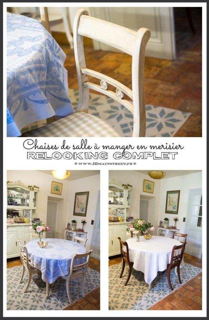 Relooking des chaises de salle à manger