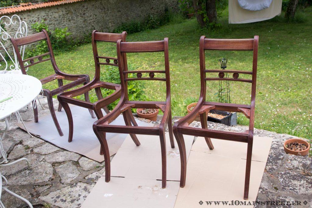 Assise des chaises retirée