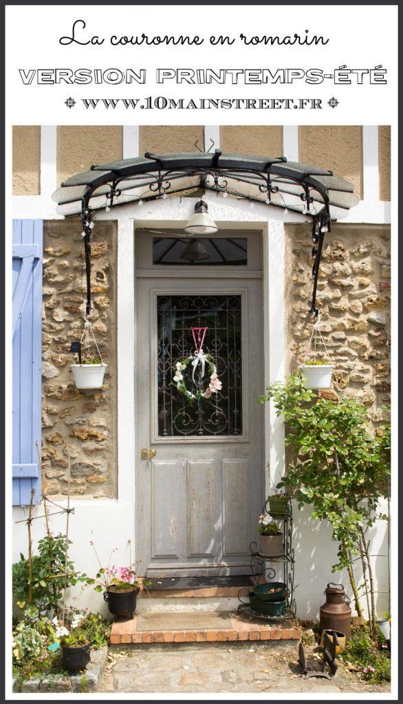 La couronne en romarin version printemps-été   DIY spring/summer rosemary wreath #curbappeal #couronne