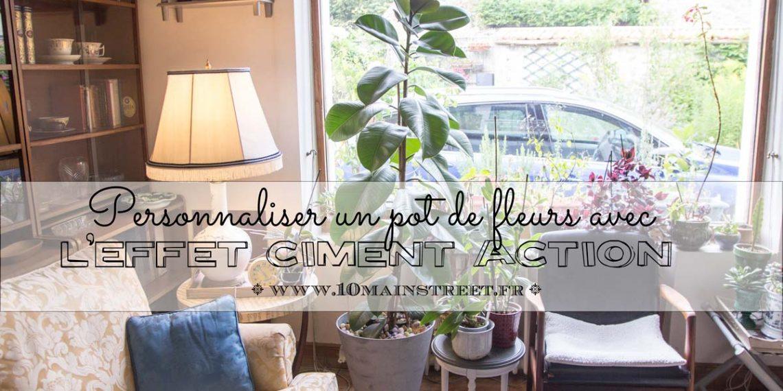 Personnaliser un pot de fleurs avec l'effet ciment Action