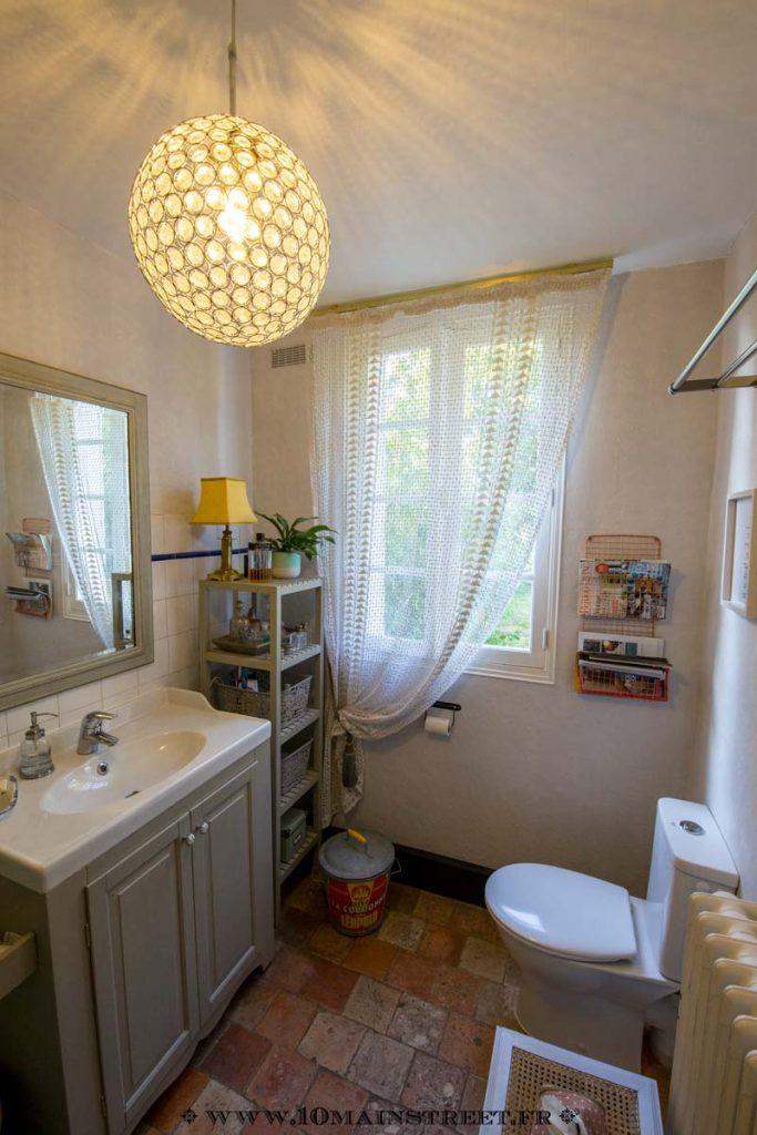 La salle de bain relookée