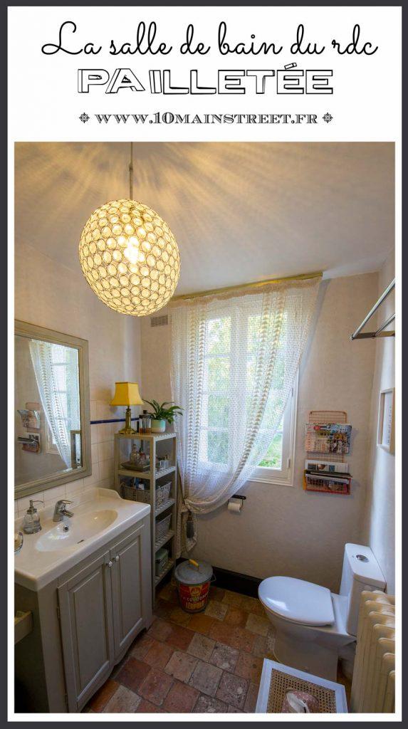 La salle de bain pailletée du RDC avec Paillett' de ID Paris #salledebain