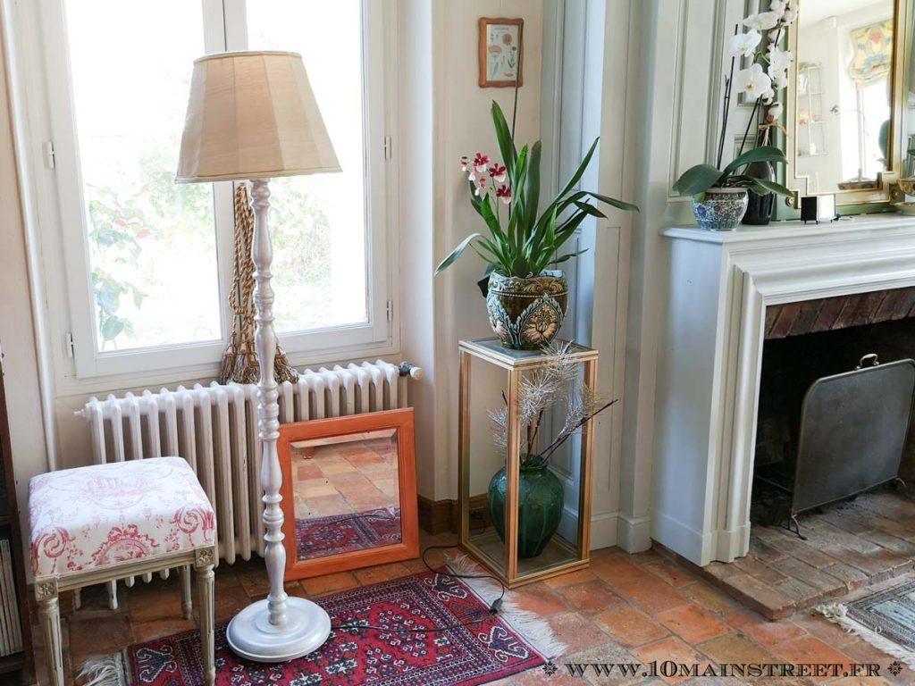 Luminaire rustique vintage relooké dans le salon