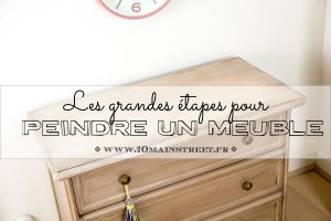 Les grandes étapes pour peindre un meuble
