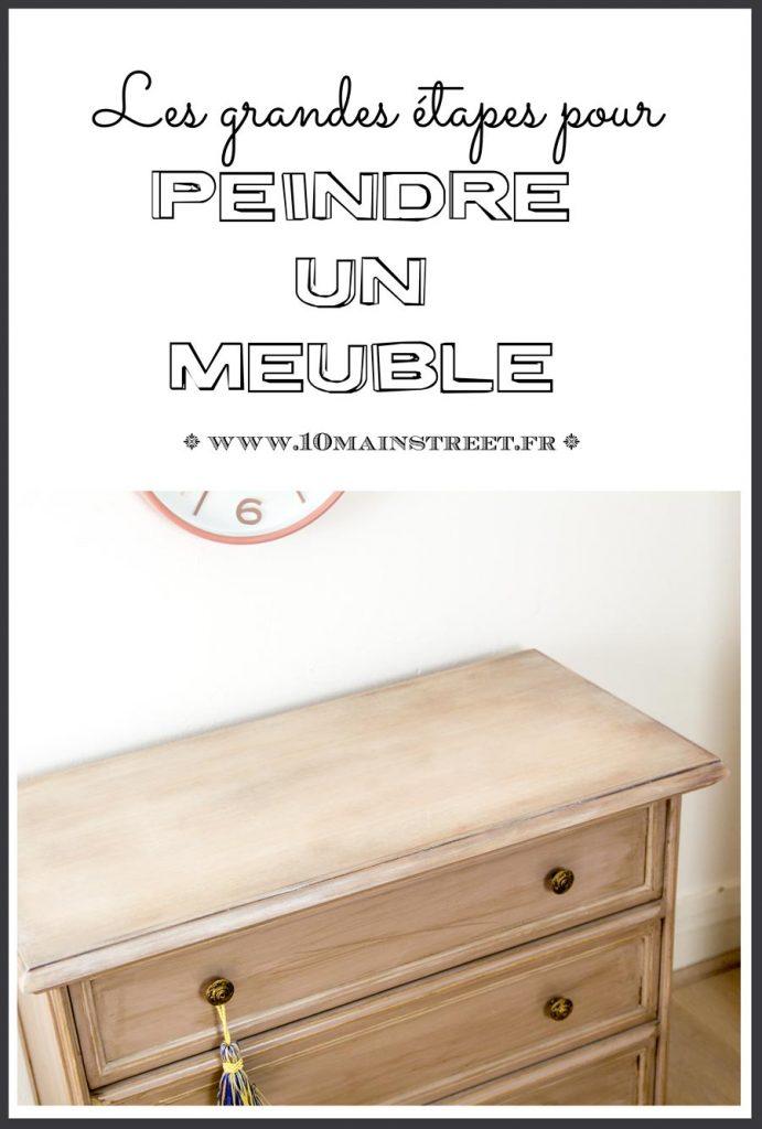 Peindre un meuble : les grandes étapes