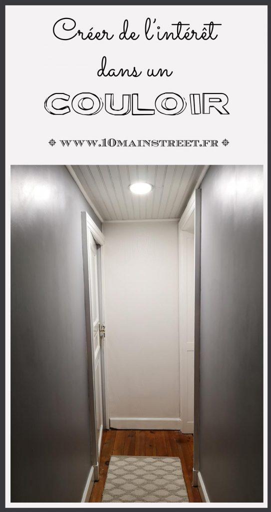 Créer de l'intérêt dans un couloir | améliorer un petit espace | #corridor #smallspace