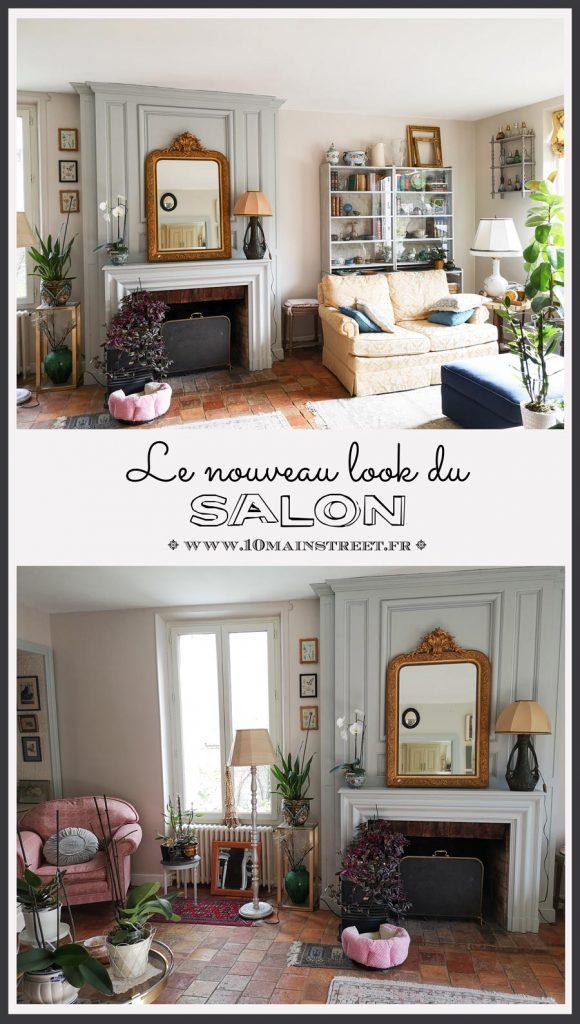 Le nouveau look du salon : coup de boost au moral ! | Rénovation de la pièce avec des peintures Tollens et Dulux et quelques trésors chinés | #renovation #frenchdecor #french #classic #fleamarket