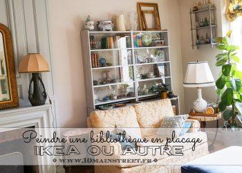 Peindre une bibliothèque en placage, Ikea ou autre