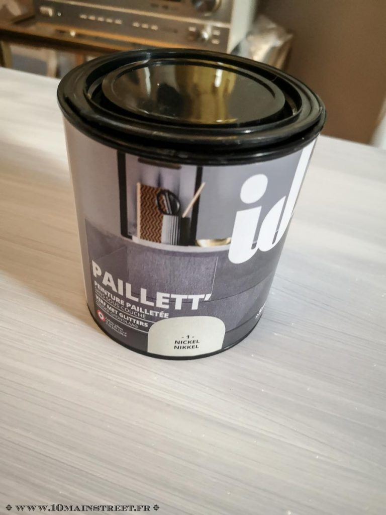 Peinture Paillett' de ID Paris en couleur Nickel