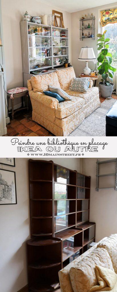 Une méthode pour peindre une bibliothèque en placage démodée, Ikea ou autre | #relookingmeubles #ikea #peinture #IDParis