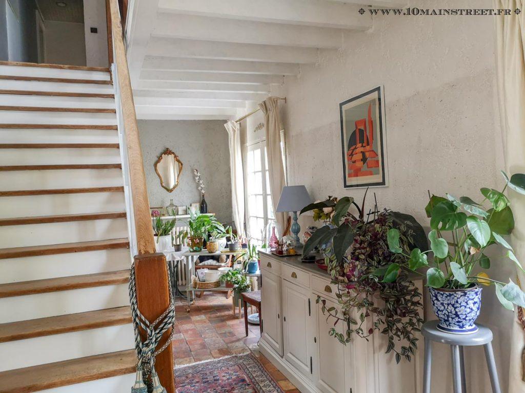L'escalier en cours de relooking