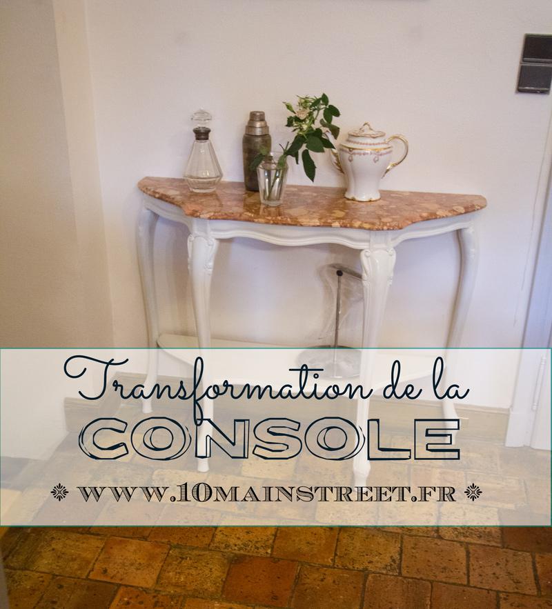 Transformation de la console, ou comment rattraper un ratage