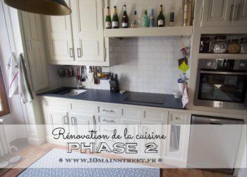 Rénovation de la cuisine phase 2 : plan de travail stratifié Compakt, évier Ikea et crédence