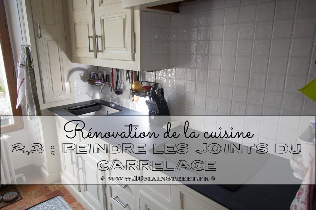 Rénovation De La Cuisine Peindre Les Joints De Carrelage Rouge