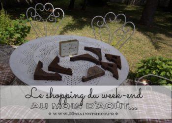Le shopping du week-end au mois d'août