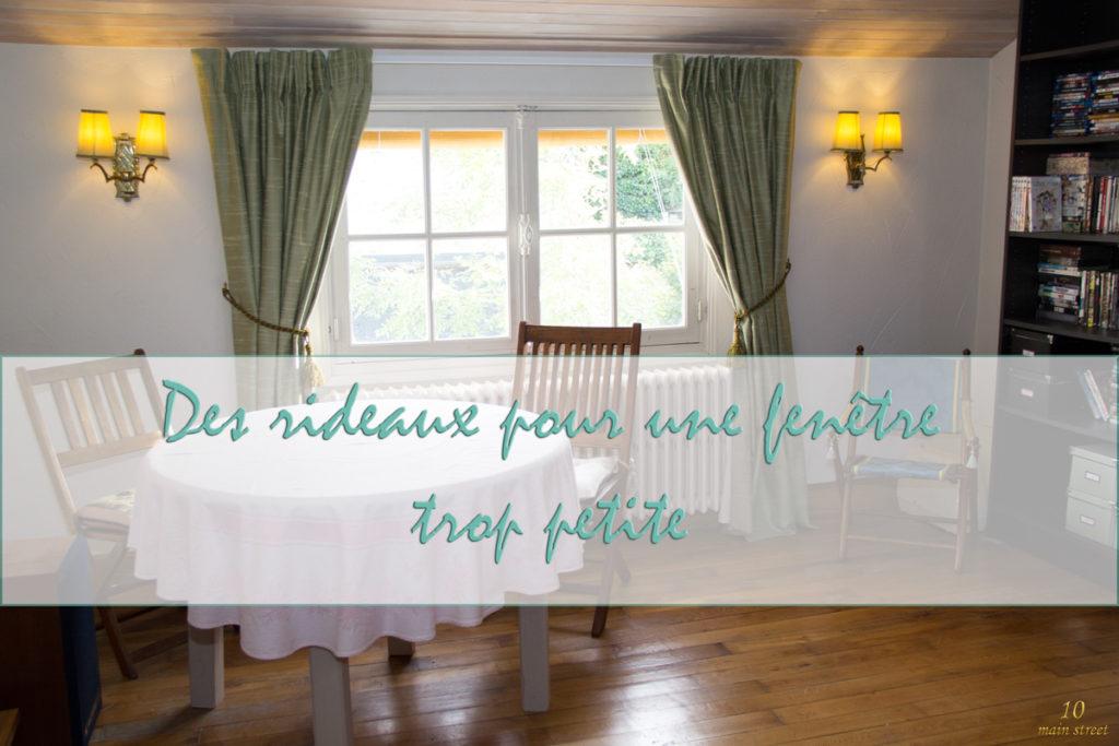 Des rideaux pour une fen tre trop petite dans le salon vid o for Rideaux pour petite fenetre chambre