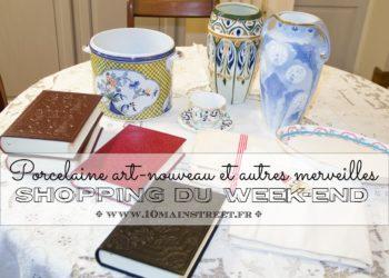 Porcelaine art-nouveau et autres merveilles : shopping du week-end