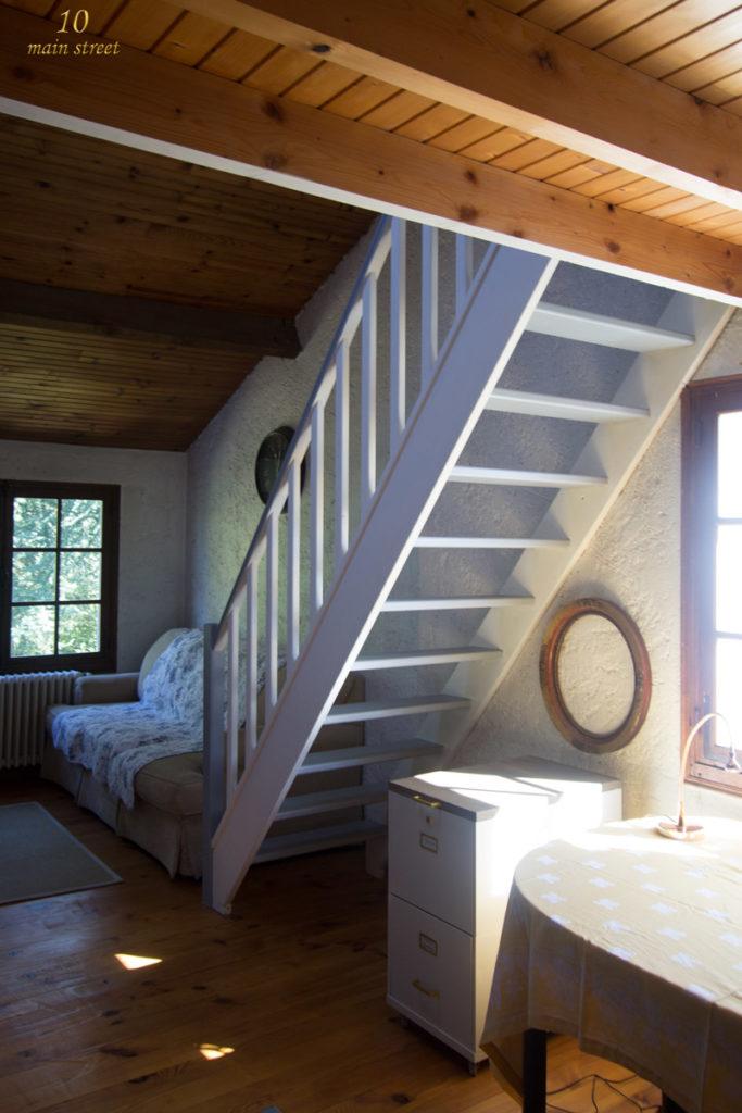 des nouvelles du bureau peinture de l 39 escalier de la. Black Bedroom Furniture Sets. Home Design Ideas