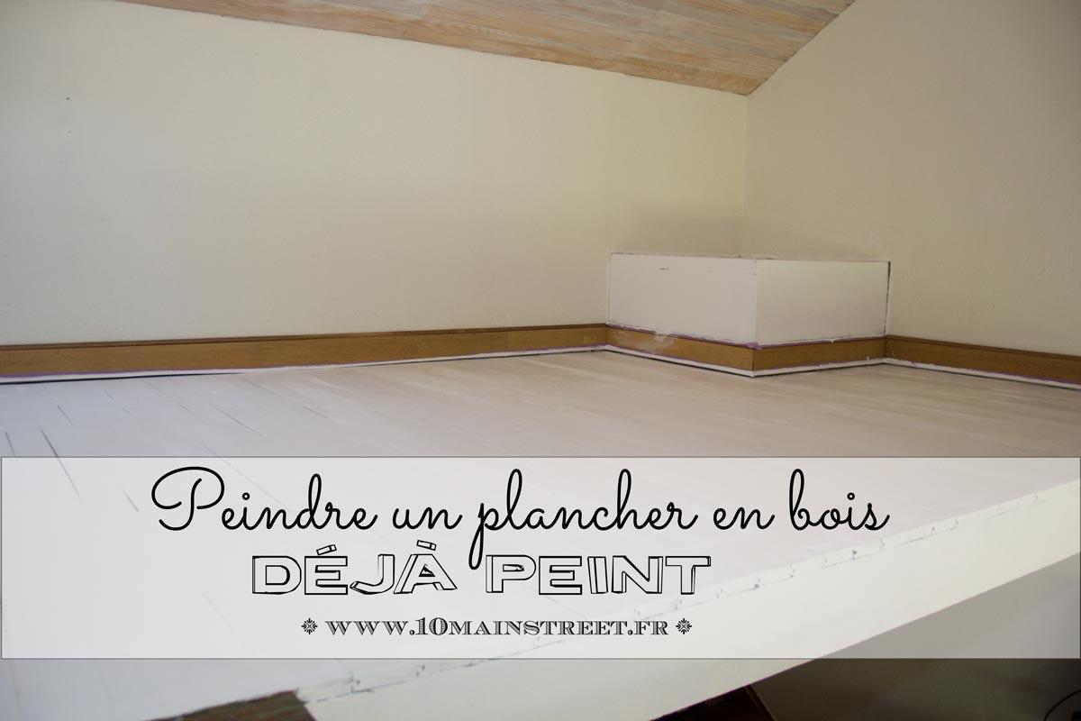 Peindre un plancher en bois déjà peint