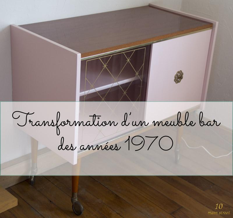 Renovation D Un Meuble Bar Des Annees 1970 Plaque Acajou Verni