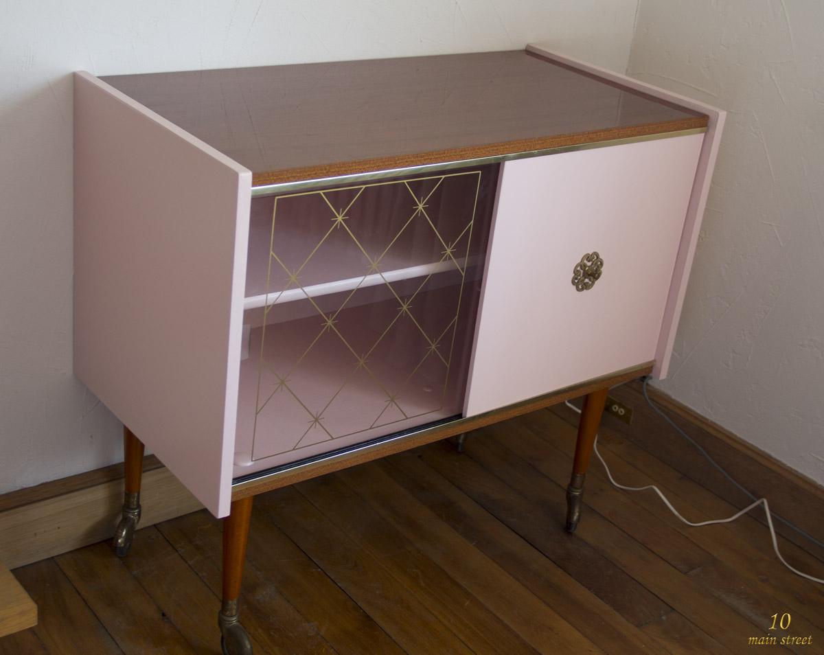 R novation d 39 un meuble bar des ann es 1970 plaqu acajou verni - Decirage d un meuble ...