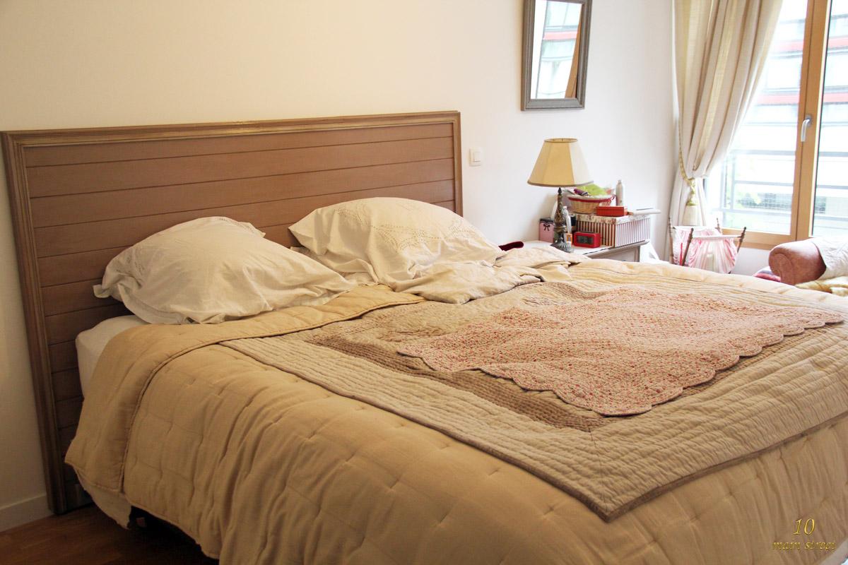 Tutoriel : fabriquer une tête de lit en lambris avec fonction multimedia