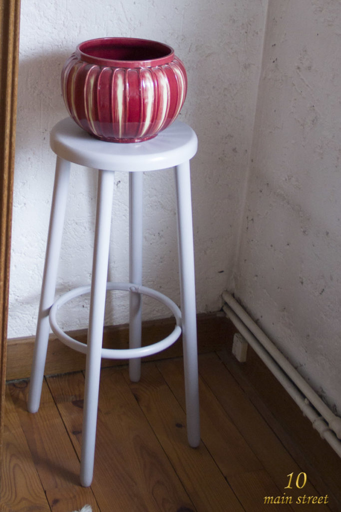 Tabouret de bar rustique transformé