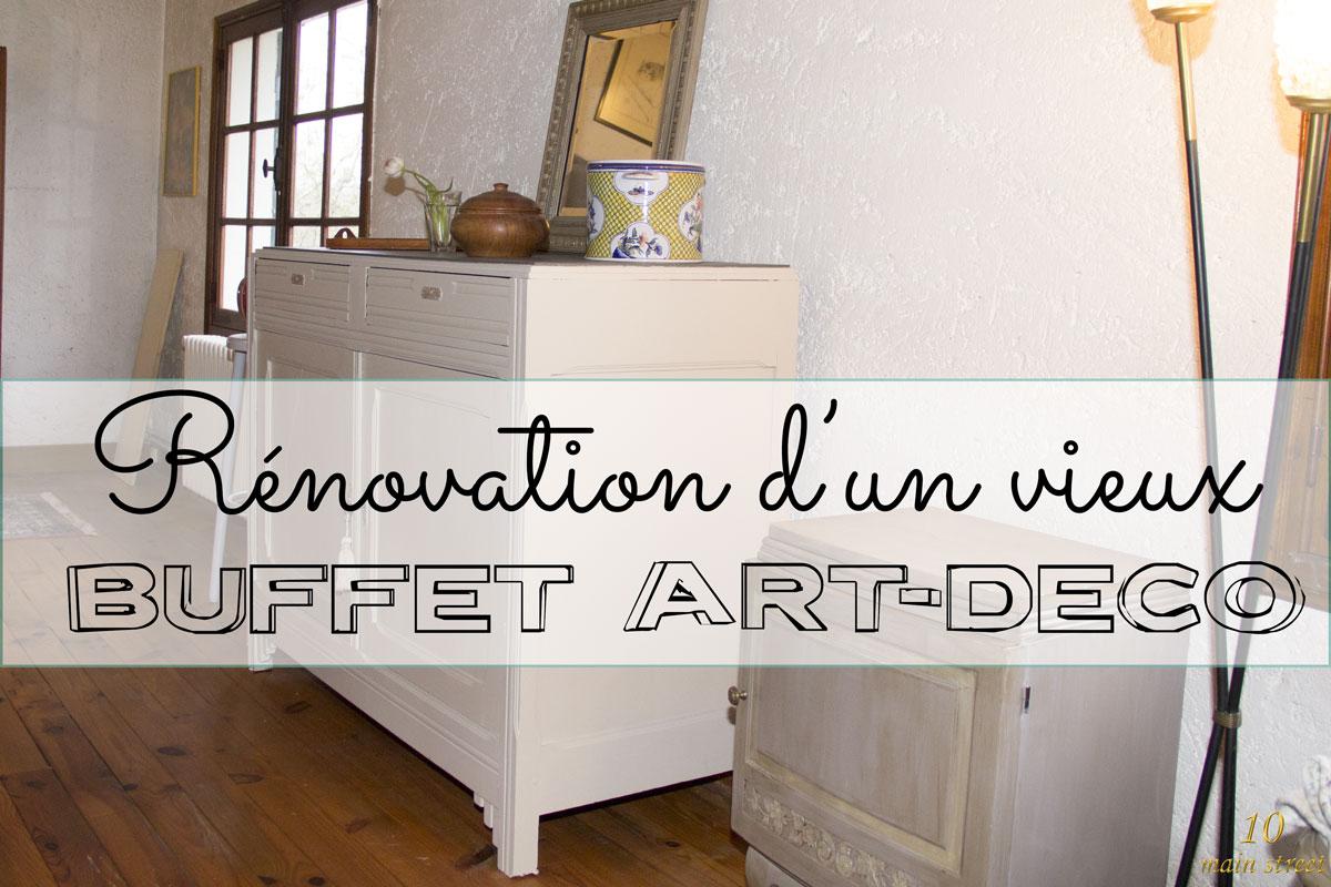 Rénovation d'un vieux buffet art-déco