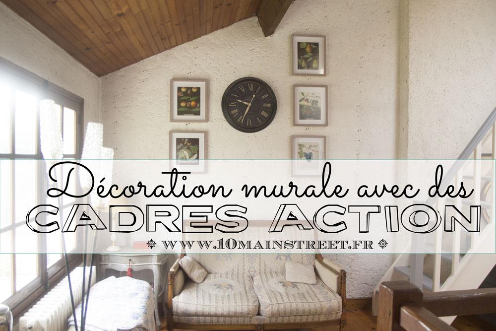 Décoration Murale Avec Des Cadres Action Et Des Illustrations
