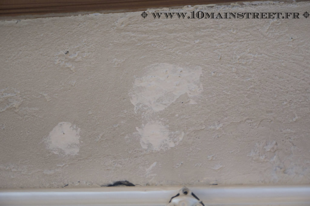 Holes clogged with plaster