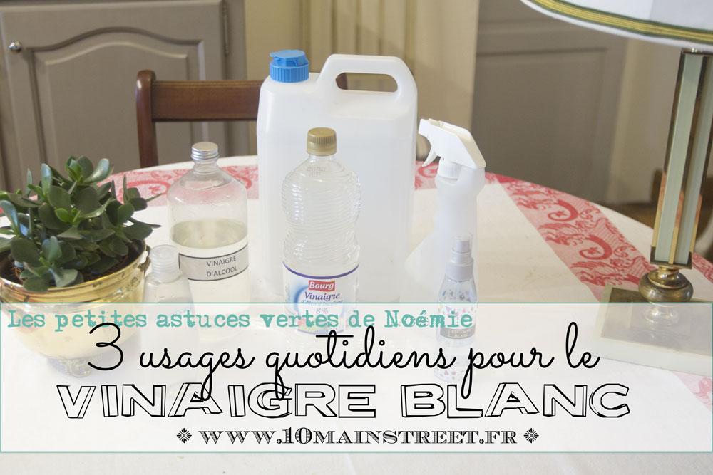 Trois usages quotidiens pour le vinaigre blanc