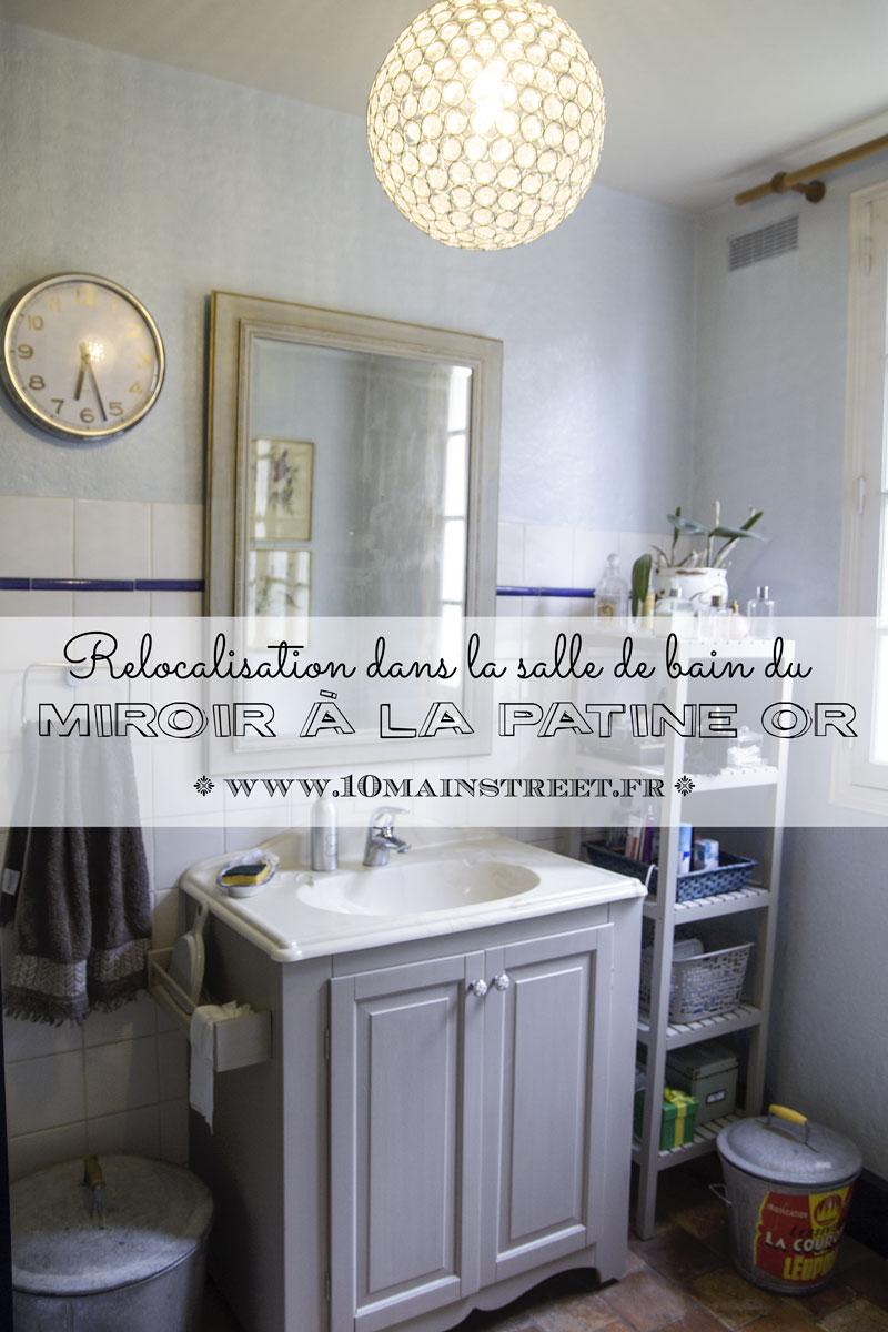 Relocalisation du miroir à la patine or