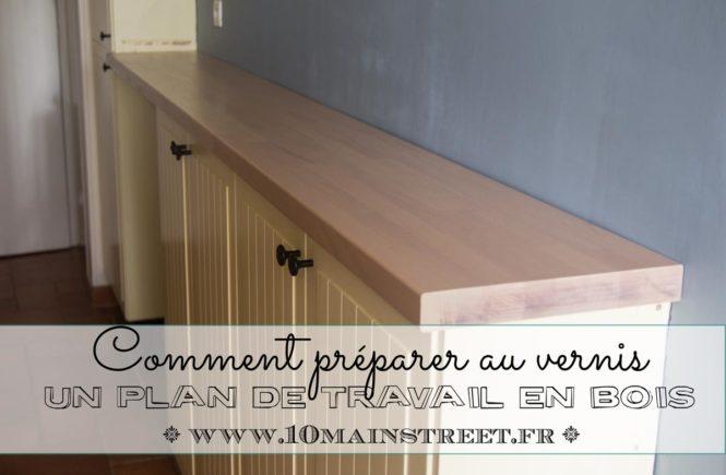 comment pr parer au vernis un plan de travail en bois. Black Bedroom Furniture Sets. Home Design Ideas