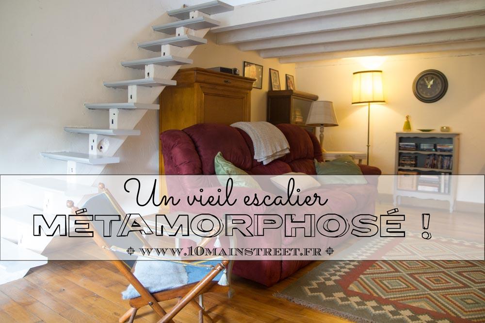 Un vieil escalier métamorphosé