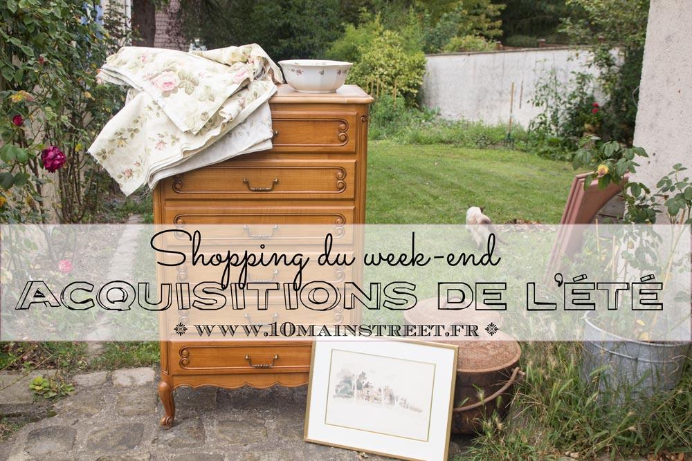 Shopping du week-end : acquisitions de l'été