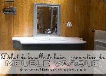 Rénovation du meuble vasque de la salle de bain