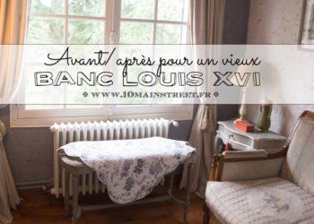 Relooking d'un vieux banc Louis XVI