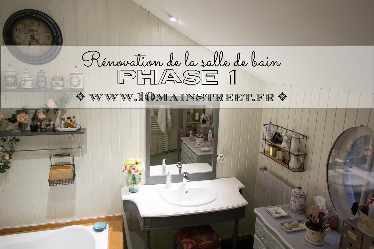 Rénovation de la salle de bain : phase 1
